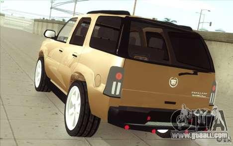 Cadillac Escalade 2004 for GTA San Andreas back left view