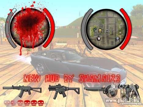 New HUD by shama123 for GTA San Andreas