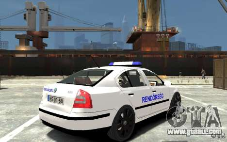 Skoda Octavia 2005 Hungarian Police for GTA 4 right view