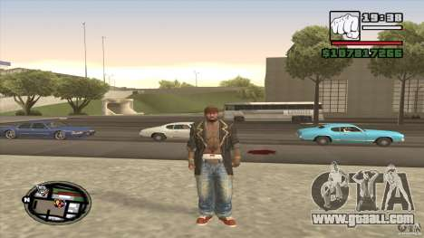 Sam B from Dead Island for GTA San Andreas second screenshot