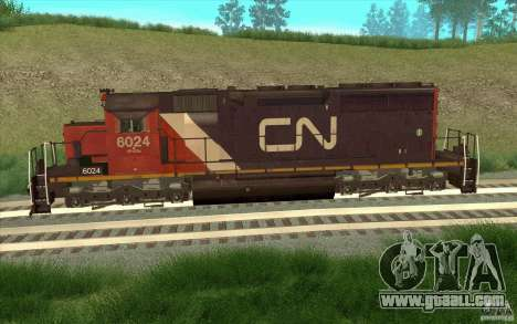 Canadian National SD40U for GTA San Andreas left view