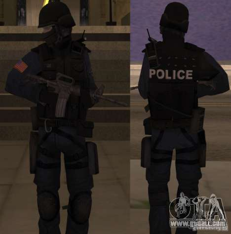 SWAT Officer for GTA San Andreas