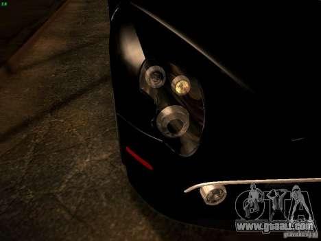 Alfa Romeo 8C Spider 2012 for GTA San Andreas upper view