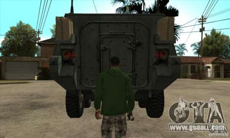 Stryker for GTA San Andreas inner view
