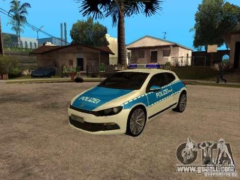 Volkswagen Scirocco German Police for GTA San Andreas