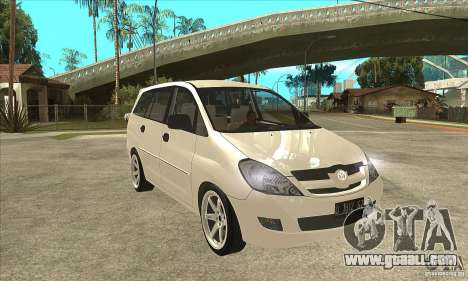 Toyota Innova Lowrider Rims 2 for GTA San Andreas back view