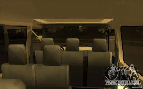 Mercedes Benz Sprinter 315 CDI for GTA San Andreas back view