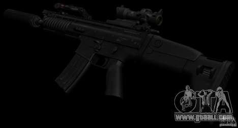 SCAR-L black for GTA San Andreas third screenshot