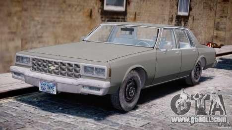Chevrolet Impala 1983 [Final] for GTA 4 left view