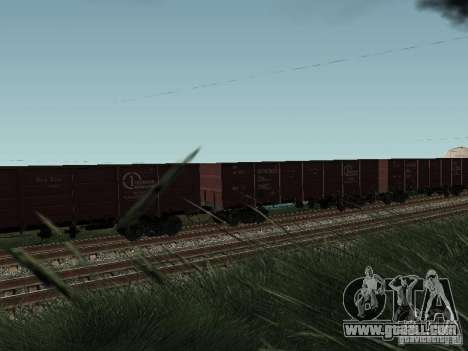 Open wagon cargo company for GTA San Andreas right view