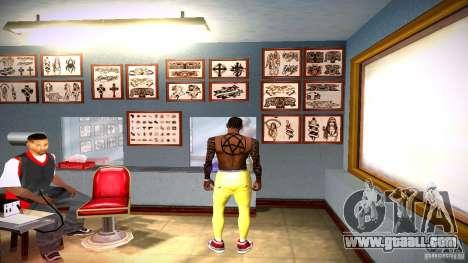Three new tattoo for GTA San Andreas fifth screenshot