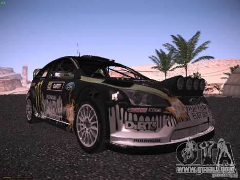 Ford Focus RS Monster Energy for GTA San Andreas left view