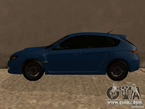 Subaru Imreza WRX for GTA San Andreas back left view