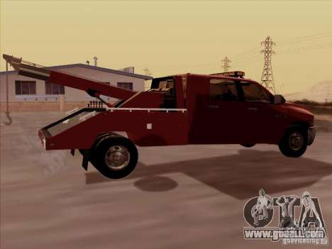 Dodge Ram 3500 TowTruck 2010 for GTA San Andreas right view