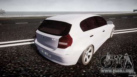 BMW 118i for GTA 4 upper view