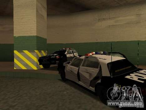 Police Civic Cruiser NFS MW for GTA San Andreas inner view