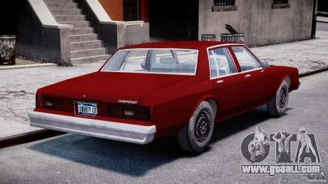 Chevrolet Impala 1983 v2.0 for GTA 4 side view
