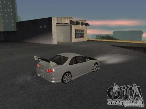 Nissan Skyline R33 SGM for GTA San Andreas right view
