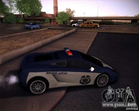 Lamborghini Gallardo LP560-4 Undercover Police for GTA San Andreas back left view