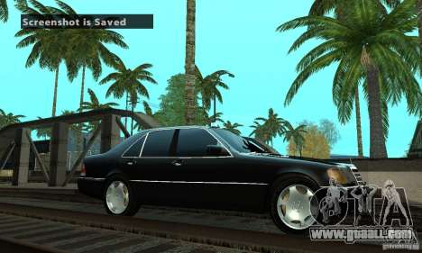 Mercedes-Benz 400 SE w140 Deputat Style for GTA San Andreas left view