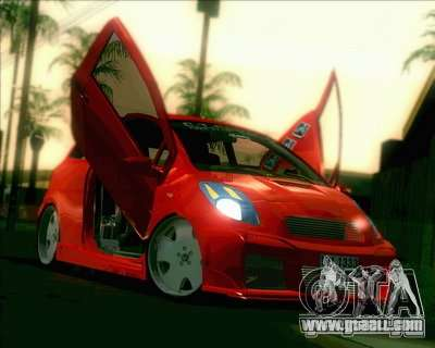 Toyota Yaris for GTA San Andreas side view