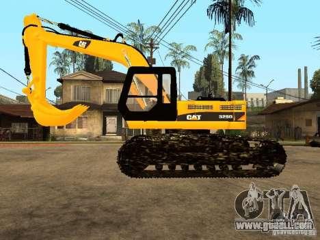 Excavator CAT for GTA San Andreas left view