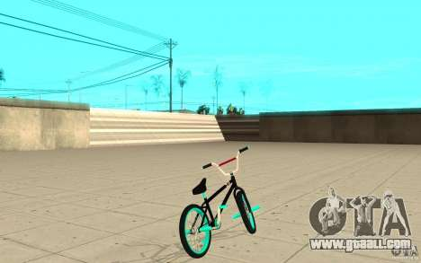 REAL Street BMX mod Black Edition for GTA San Andreas back left view