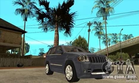 Jeep Grand Cherokee SRT8 v2.0 for GTA San Andreas back view
