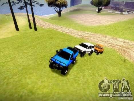 Chevrolet Silverado OFFRoad for GTA San Andreas inner view