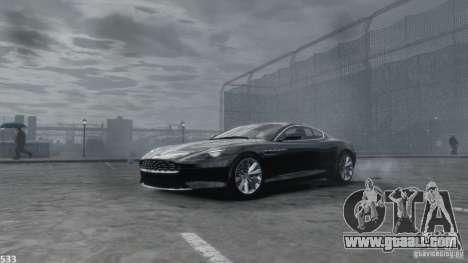 Aston Martin Virage 2012 v1.0 for GTA 4 bottom view