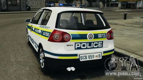Volkswagen Golf 5 GTI South African Police [ELS] for GTA 4 left view