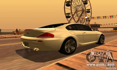 BMW M6 for GTA San Andreas inner view
