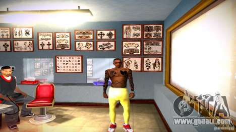 Three new tattoo for GTA San Andreas sixth screenshot