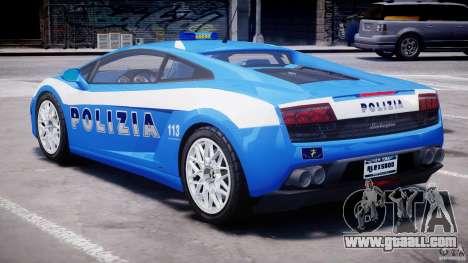 Lamborghini Gallardo LP560-4 Polizia for GTA 4 right view