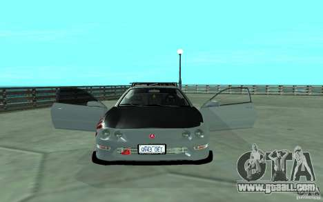 Acura Integra Type-R for GTA San Andreas inner view