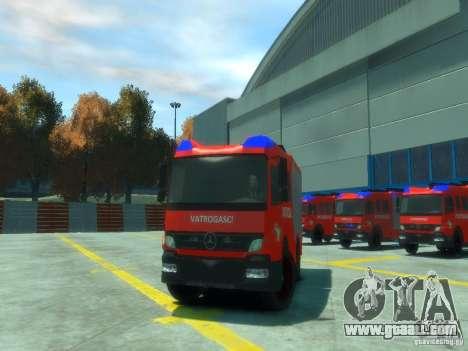 Mercedes-Benz Atego Fire Departament for GTA 4 inner view
