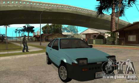 Toyota Corolla GT-S - Stock for GTA San Andreas back view