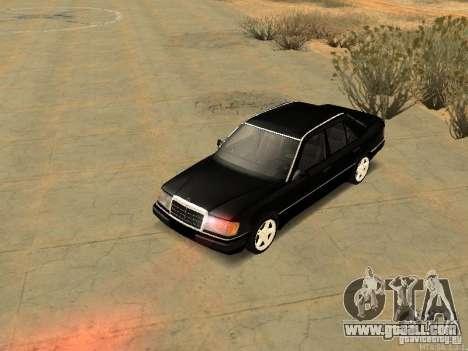 Mercedes-Benz E250 V1.0 for GTA San Andreas inner view