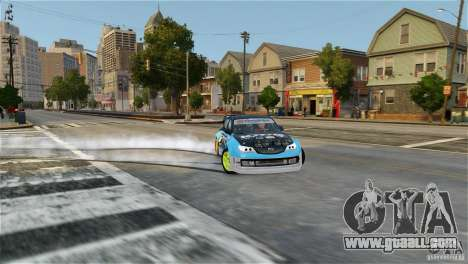 Subaru Impreza WRX STI Rallycross KMC Wheels for GTA 4 back left view