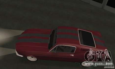 Ford Mustang 1968 for GTA San Andreas back left view