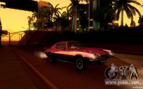 Chevrolet Camaro Z28 for GTA San Andreas wheels