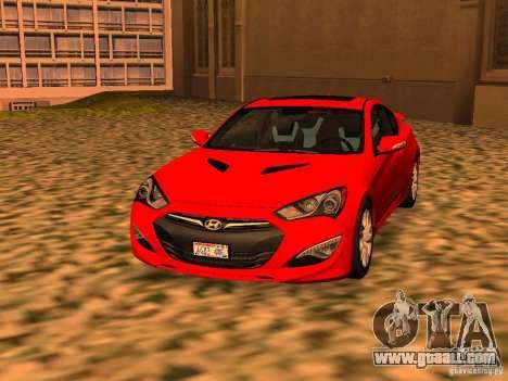 Hyundai Genesis Coupé 3.8 Track v1.0 for GTA San Andreas