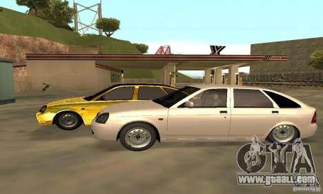 Lada Priora Gold for GTA San Andreas back view