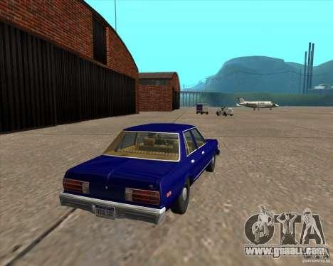 Dodge Aspen 1979 for GTA San Andreas back left view