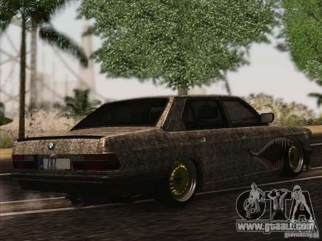 BMW E28 525E RatStyle for GTA San Andreas back view