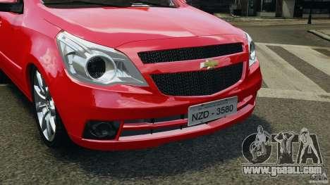 Chevrolet Agile for GTA 4 inner view