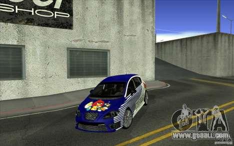 Seat Leon Cupra R for GTA San Andreas bottom view