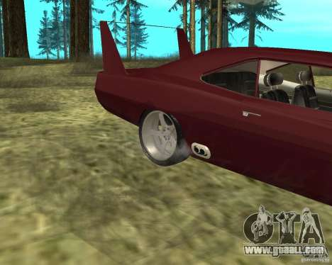 Dodge Charger Daytona for GTA San Andreas back view
