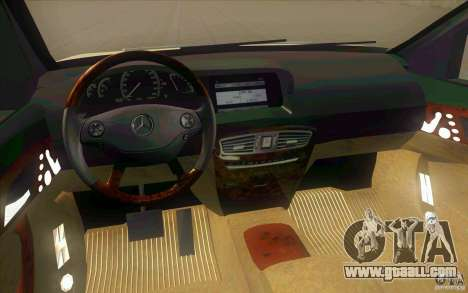 Mercedes Benz CL 500 for GTA San Andreas inner view