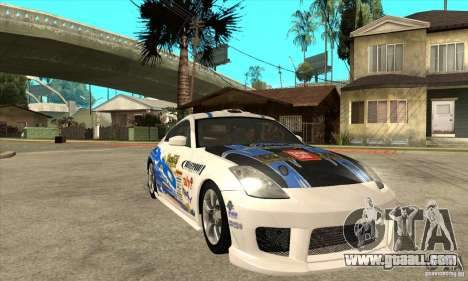 Nissan 350z Stock - Tunable for GTA San Andreas upper view